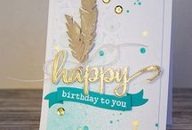 Card Making - feathers & cork