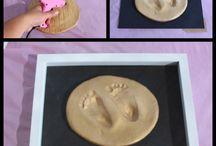 Cuadro para decorar con bebe / Bebe pies cuadro