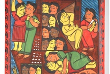 Paintings - Indian Bengal Pattachitra
