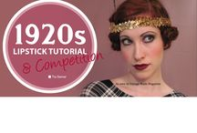 """1920s makeup Competition  / Vintage Made #2 features a 1920s Lipstick Tutorial & makeoff competition (similar to a bakeoff but more delicious). The competition is judged by the number of """"likes"""" on the best makeup and overall look of a 1920s style, photographed from the shoulders up. The Competition closes Jan 15, 2014 with the winner to receive their choice of any 5 products from the Eliza Cosmetics range."""