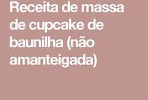 Massa de cupcake de baunilha não amanteigada
