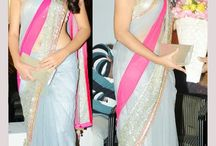 Shraddha Das Grey Replica Saree - Designer Saree   Zakasi.com