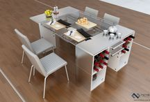 Dining room and Kitchen Designs / Immaculate modern kitchen and dining room designs.