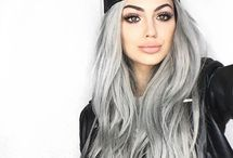 greyblonde / silver. ombre. toner. highlights