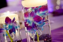 Candles and centrepieces