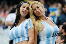Argentina football fans girls