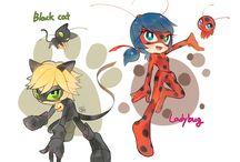 Cat and ladybug / Cat and ladybug