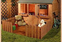 Domek z placem zabaw i parkiem linowym
