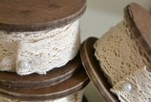 spools of lace,