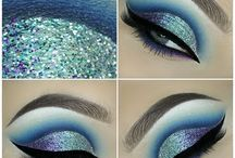 blue makeup inspired