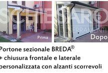 Portoni sezionali Breda® / La Schiesaro Serramenti Srl è rivenditore ufficiale dei portoni sezionali a marchio Breda®.