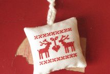 Christmas craft cross stitch nordic