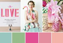 Tropical wedding: palette + details