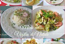 menu. della vigilia di natale