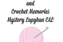 Crochet  Mystery Lapghan Crochet A Long / Free crochet patterns designed to make 6-inch squares for lapghan