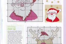 cross stitch christmas & winter