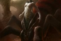 Lolth; spider goddess and queen of the Drow.