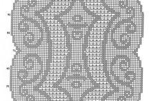 filet / crochet - háčkovanie-häkeln
