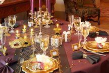 Décoration table nouvel an