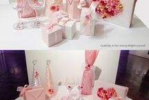 lovely Table / gift, wrapping idea, lovely wrapping, propose, desert table