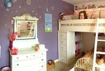Girly Nature Room / Letting my girls give their opinions...this is what they wanted for their bedroom. ;-) Seasons, nature, a little bit of fairy decor and Disney's Frozen decor.