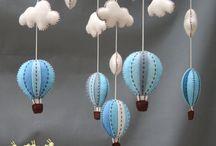 DIY mainan awan gantung