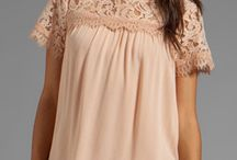 Perfect / Think casual but feminine. Pink, white, ivory, blush, pale colors, lace, mixed with jeans, textures, laters, etc.