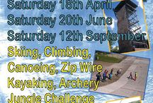 Ackers Photo's & Events / Tobogganing, Jungle Challenge & The Tower. Schools & team building groups. Young, old & the young at heart, Friends, family & colleagues. On site & off site, in the air & in the water