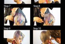 <hair cutting>