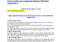 Law575 complete class week 1 6 dqs and assignments (business law for consultants)