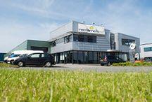 Drukkerij Reclameland / In Roden, vlakbij Groningen, zijn het traffic centrum en de productiehallen van Reclameland gevestigd.