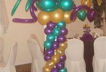 Mardi Gras Balloon ideas / Balloon decor for Mardi Gras Events