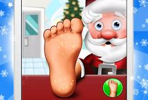 Santa's Foot Spa Salon / Little Doctor Saves the Christmas Presents - Santa's Foot Spa Salon is open, kiddies try your healing skills on Father Christmas. For iOS and Android.