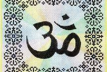 Yoga cross stitch designs