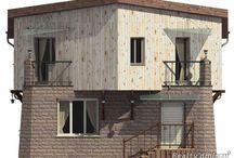Коттедж, индивидуальный проект, 170 м2 / Первый этаж каменный, высота помещений 2,6 м, гостиной - 3,0 м, второй - каркасный переменной высоты 2,2 - 3,6 м свободной планировки с Зимним садом 10 м2, цокольный этаж - 2,5 м, фундамент столбчатый на глубину промерзания 1,4 м, перекрытия деревянные по лагам, кровля металлочерепица. Стоимость проекта от 9500 руб/м2. Tel: +7(926) 875-88-37 Alexey