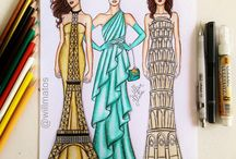 vestidos en dibujos