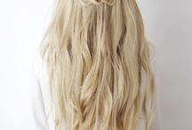 Half up braid hair style