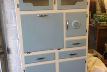 Vintage kitchen cabinets / by Louise Houghton