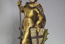 San Giorgio e S.Michele statue