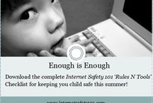 Internet Safety 101 / Our goal is to educate, empower, and equip you with the basic safety rules and software tools (Rules 'N Tools®) you need to know to protect your children online. Remember to implement both Internet safety rules and tools to protect children online—one without the other isn't enough!  Visit enough.org and www.internetsafety101.com to download the complete Internet Safety 101 Rules n Tools Checklist for keeping your children safe this summer!