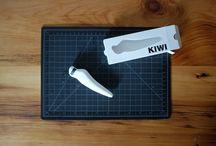 White Injection Mold Kiwi