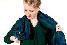 Schal drapieren