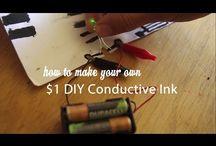 conductive ink/thread