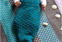 Baby zeemeermin / Gehaakt