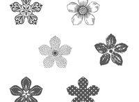 Stempelset Petite petals