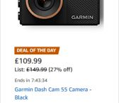 GARMIN DASH CAM -UK