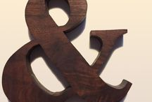 Hunt and Gather - Walnut Letters