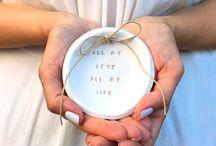 Wedding Ceremony / Ring pillow, ring dish, flower girl basket