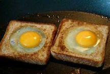 cocinando huevos