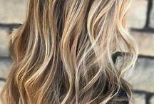 Hair blond highlights